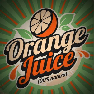 An orange juice sign is an example of one sign or banner we can design