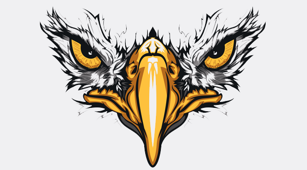 Vector Artwork design with bird eyes preview