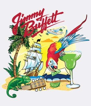Vector Artwork design for Jimmy Buffet preview