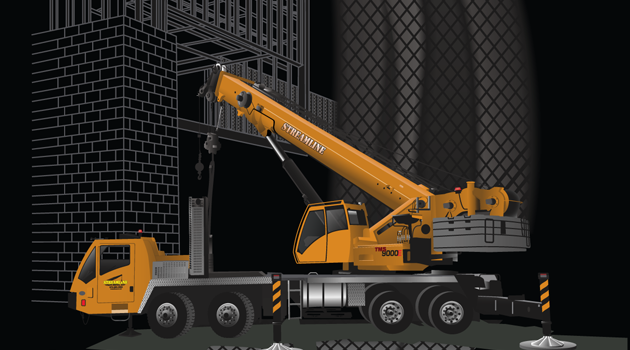 Vector Artwork for Streamline Crane Services