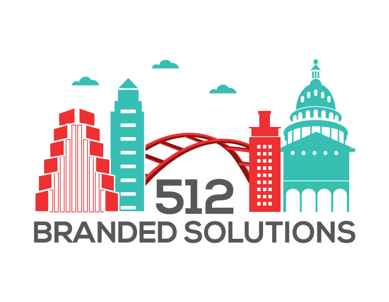 Custom-Designed Logo design for 512 Branded Solutions full size