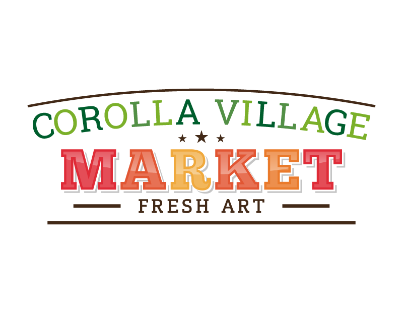 Custom-designed logo for Corolla Village Market full size