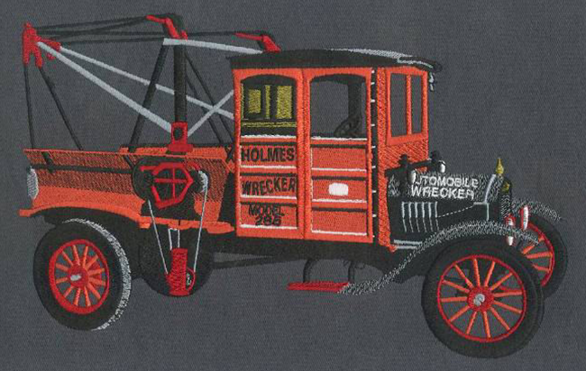 Embroidery Digitizing design for Holmes Wrecker full size