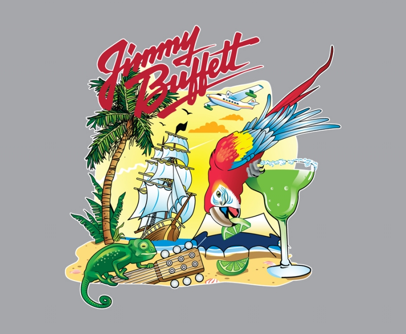 Vector Artwork design for Jimmy Buffet full size