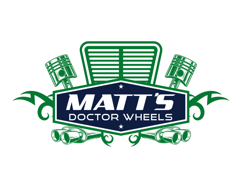 Custom-Designed Logo design for Matt's Doctor Wheels full size
