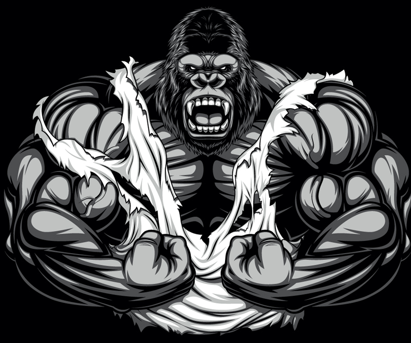 Vector Artwork with gorilla full size