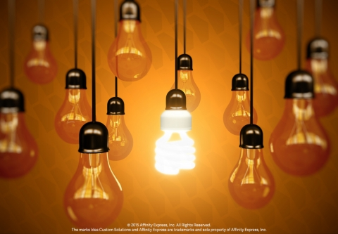 Hanging Light Bulbs Remind Us Marketing and Innovation are Important to Business