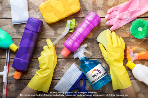 Hands and Cleaning Tools Show Spring Cleaning is Good for Business