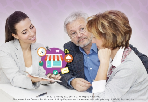 Woman Consulting with Two People on a Do-It-For-Me Solution